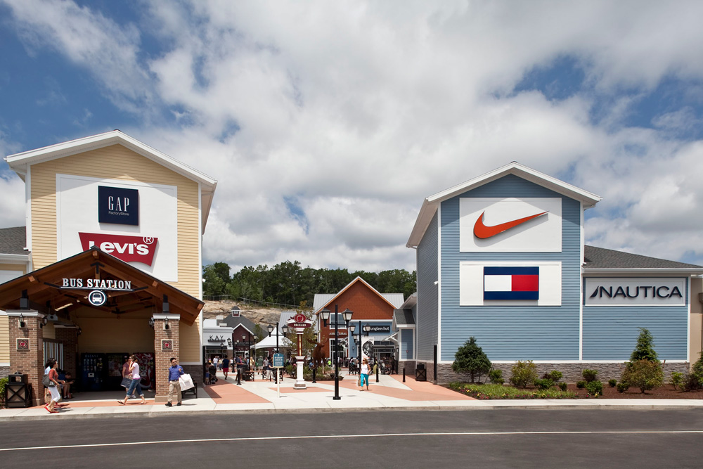 Greetings from Merrimack Premium Outlets® which is an outdoor shopping center located 35 miles northwest of Boston and easily accessible off Exit 10 of Everett Turnpike (RT 3 from Boston).