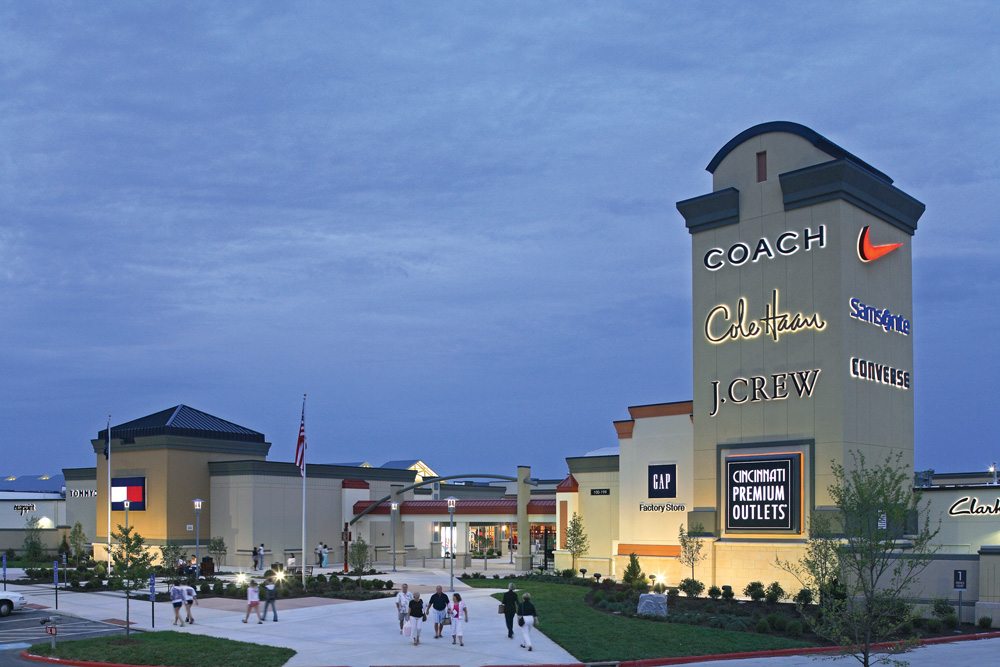 Find an exciting collection of outlet stores from top designers and name brands at Cincinnati Premium Outlets® including Coach, Michael Kors, Polo Ralph Lauren, Saks Fifth Avenue Off 5th, and Under Armour. Conveniently located halfway between Cincinnati and Dayon, off I, Exit 29 in Monroe, the mall offers a beautiful outdoor, single-level shopping experience.