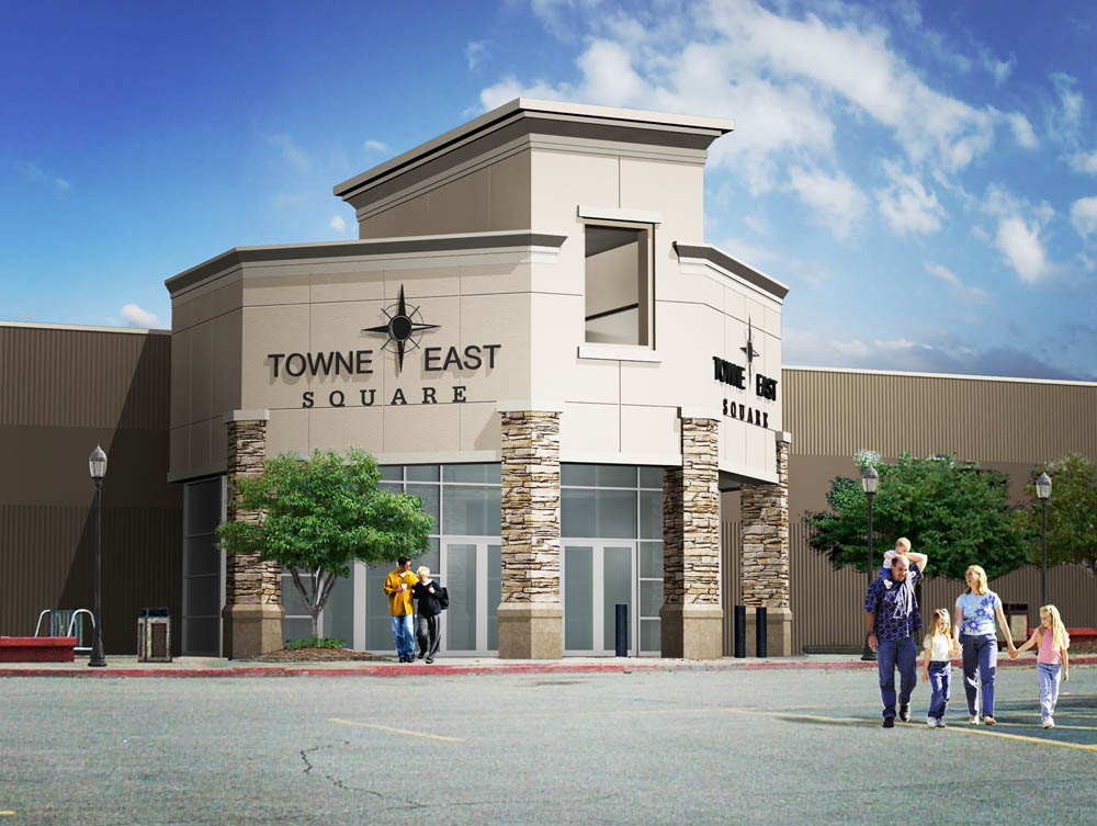 Towne East Square is the main shopping destination for central Kansas located at the intersection of Rock Road and Kellogg in east Wichita. Towne East Square also serves many nearby communities including those in several surrounding counties.