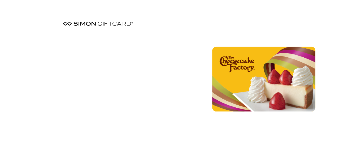 Cheesecake Factory Giftcard Promotion
